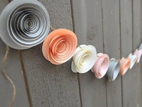Amazon peach flower garland grey flower garland ivory peach flower garland grey flower garland ivory flower garland paper flower garland mightylinksfo