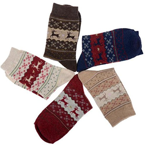 Fashion Womens Men's Casual Super Warm Heavy Thermal Wool Winter Socks ONE SIZE (all color)
