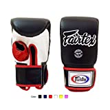 Fairtex Muay Thai Bag Gloves TGO3 TGT7 Color: Black Red Blue White Yellow Size: Medium Large Training & Sparring Bag Boxing Gloves for Kick Boxing MMA K1
