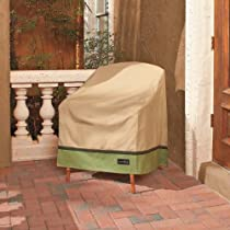 Tan and Olive Outdoor High Back Patio Chair Cover