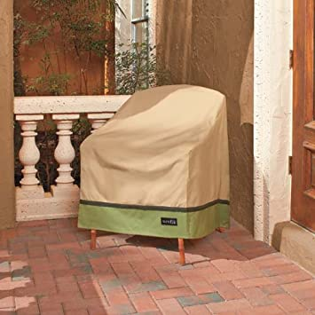 Amazoncom Sure Fit High Back Patio Chair Cover Taupe Patio