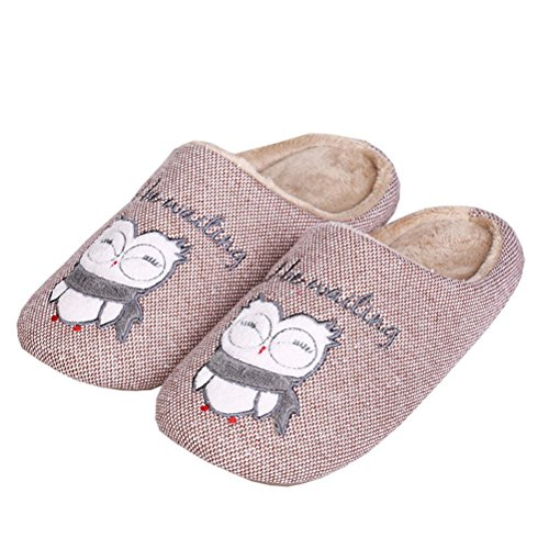 Mens Soft Washable Toe Shoes Warm Closed Slip Non Bedroom Cartoon Slippers Indoor Flat Coffee YUTIANHOME Home dxwvd