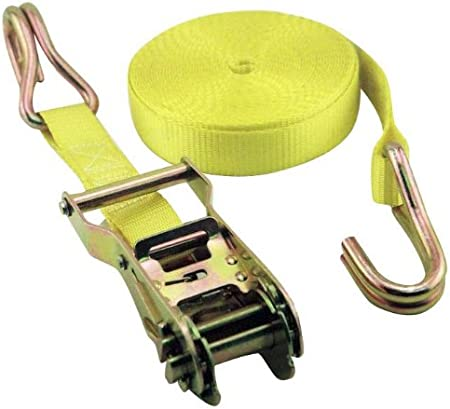 Erickson 51316 Yellow 1-Inch x 15-Inch Heavy Duty Ratcheting Tie-Down Strap