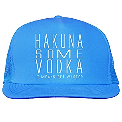 Hakuna Some Vodka Bright neon truckers mesh snap back hat in 6 Bright Colors