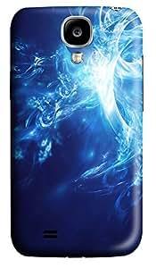 Samsung S4 Case Blue white Abstract Art 3D Custom Samsung S4 Case Cover