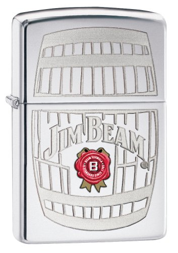 (Zippo Jim Beam Pocket Lighter with High Polish Chrome)