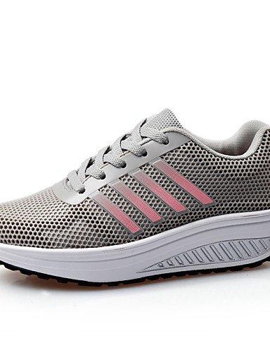 8b94275e71b 2016 Femme Chaussures en microfibre Tulle Talon Compensé cales confort Nouveauté  Fashion Sneakers Bureau   Carrière Athletic gray-us8.5   eu39   uk6.5 ...
