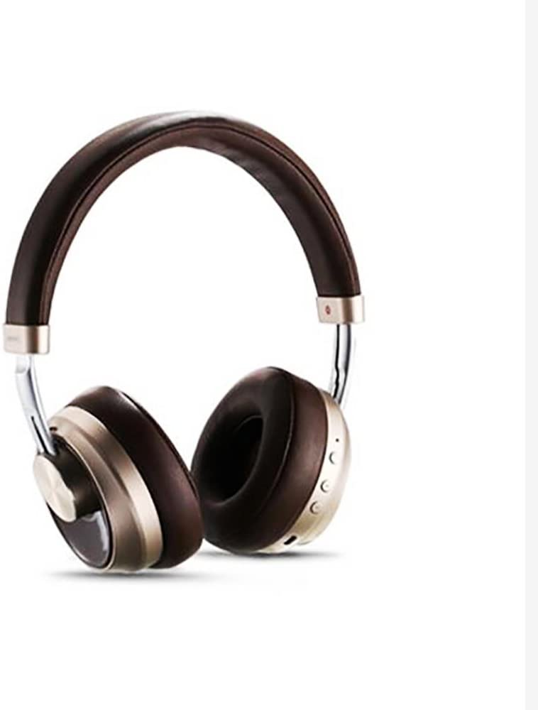 MKDMiD Wireless Bluetooth 4.1 Stereo Headphones, On Ear Noise Cancelling Headsets Support Microphone and USB Charging, 3.5MM AUX Cable for Cellphones (Brown)