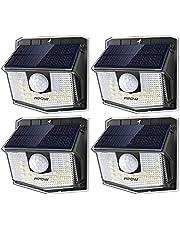 【4 Pack 30 LED】 Mpow Lampes Solaires Extérieur 270° Eclairage Extérieur Etanche IP65, Mode de détecteur de Mouvement Batterie Puissante Spots Solaires pour Jardin, Garage, Chemin, Escalier, Patio etc