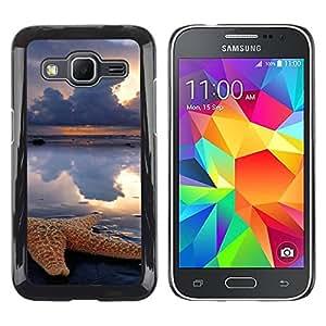 Paccase / SLIM PC / Aliminium Casa Carcasa Funda Case Cover para - Clouds Sun Rain Sea Nature - Samsung Galaxy Core Prime SM-G360