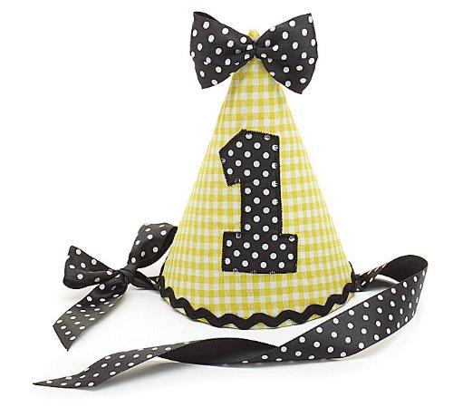 Birthday Yellow Gingham Fabric Ribbon product image