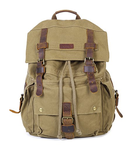 Paraffin Outdoor Canvas Backpack Hiking Camping Rucksack