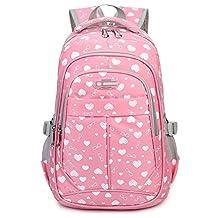 Tibes Oxford Backpack Printed Cute Waterproof Backpack School Backpack for Kids Girls/Boys