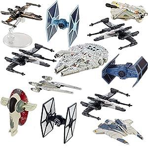 hot wheels star wars (12 pack) spaceship models toys set figures & stands mattel - 514JusklGVL - Hot Wheels Star Wars (12 Pack) Spaceship Models Toys Set Figures & Stands