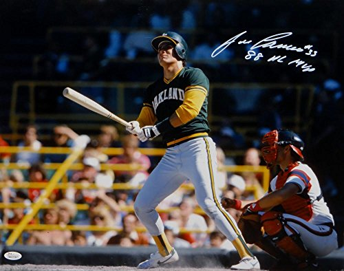 Jose Canseco Autographed Oakland Athletics 16x20 Batting Photo W/ MVP-JSA W Auth