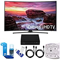 Samsung UN49MU6500 Curved 49 4K Ultra HD Smart LED TV (2017 Model) Plus Terk Cut-the-Cord HD Digital TV Tuner and Recorder 16GB Hook-Up Bundle