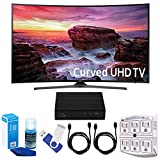 Samsung UN49MU6500 Curved 49'' 4K Ultra HD Smart LED TV (2017 Model) Plus Terk Cut-the-Cord HD Digital TV Tuner and Recorder 16GB Hook-Up Bundle