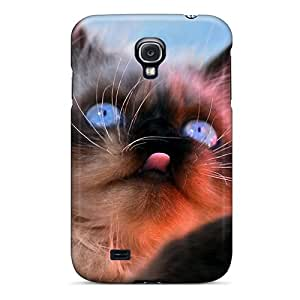 Blue Eyes Cat Case Compatible With Galaxy S4/ Hot Protection Case