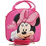 1 X Disney Minnie Mouse Lunch Box Bag with Shoulder Strap and Water Bottle