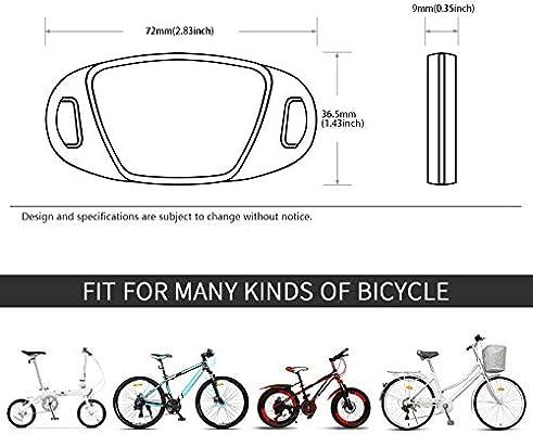 Bicycle Bike Clear Spoke Reflector 2 Piece For Bike