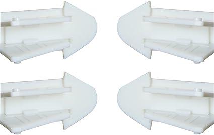 Olpchee - 4 cerraduras de seguridad para puerta de armario corredera de plástico con adhesivo 3M para puerta corredera, sin necesidad de herramientas: Amazon.es: Hogar