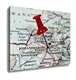 Ashley Canvas, Map With Pin Point Of Johannesburg In South Africa, Home Decoration Office, Ready to Hang, 20x25, AG5911831
