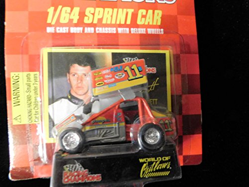 Sprint Car World of Outlaws Greg Hodnett 1998 Red Checkered Flag Card 1:64 scale die-cast Racer by Racing Champions