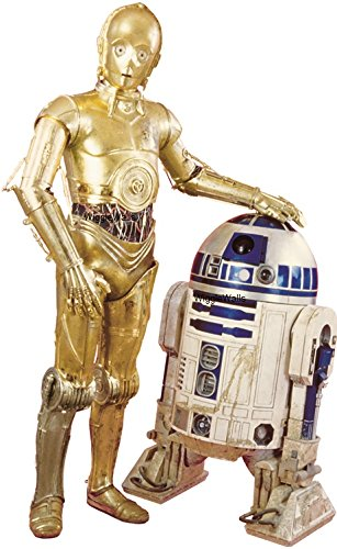 - 10 Inch C-3PO R2-D2 Droid C3PO R2D2 BB8 Droids Star Wars Episode IV 4 A New Hope Removable Wall Decal Sticker Art Home Decor Kids Room-9 3/4 Inches Wide By 6 Inches Tall