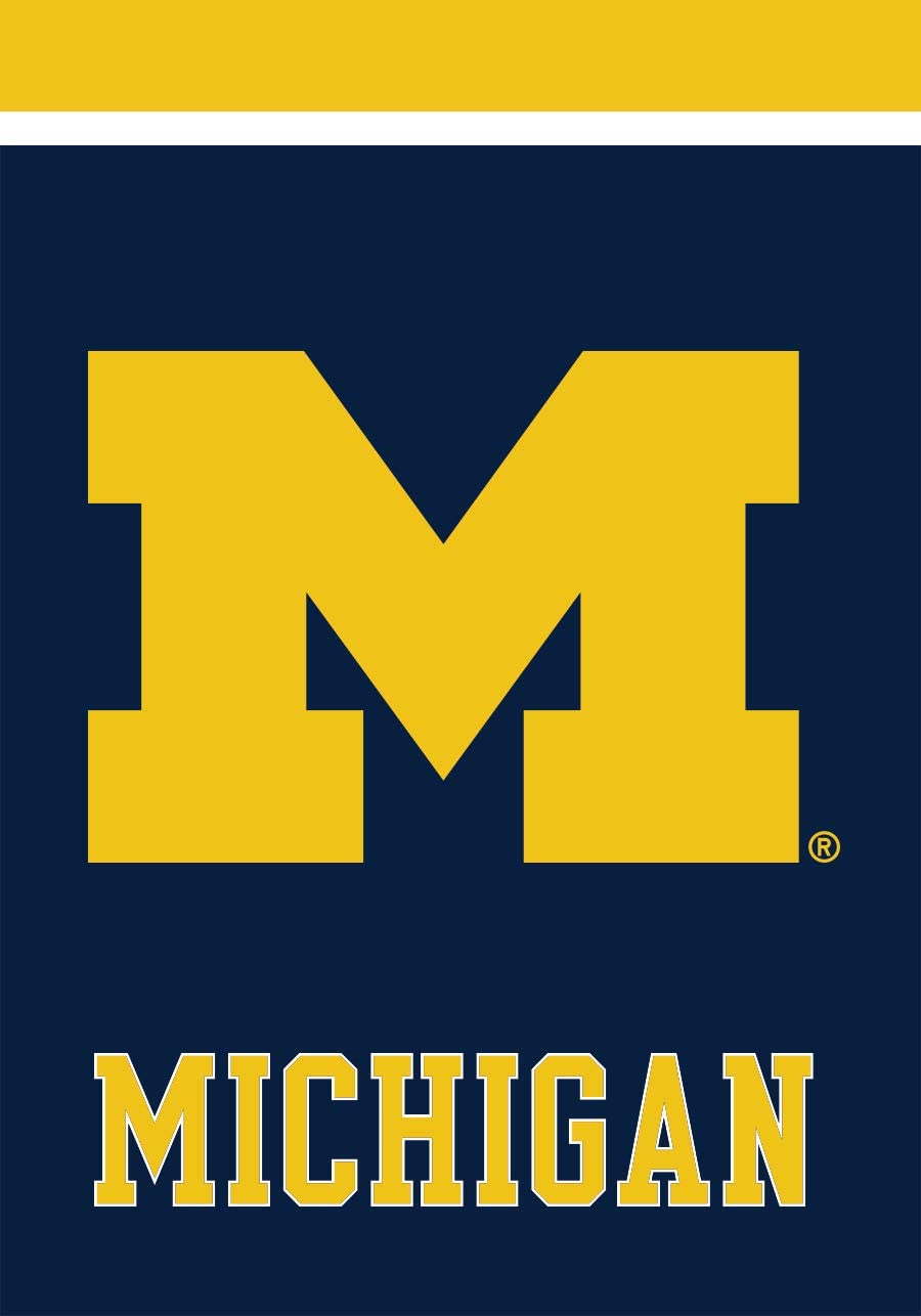 "Briarwood Lane Michigan Wolverines Garden Flag NCAA Licensed 12.5"" x 18"""