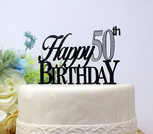 All About Details Happy 50th Birthday Cake Topper1pc Decoration Party Decor