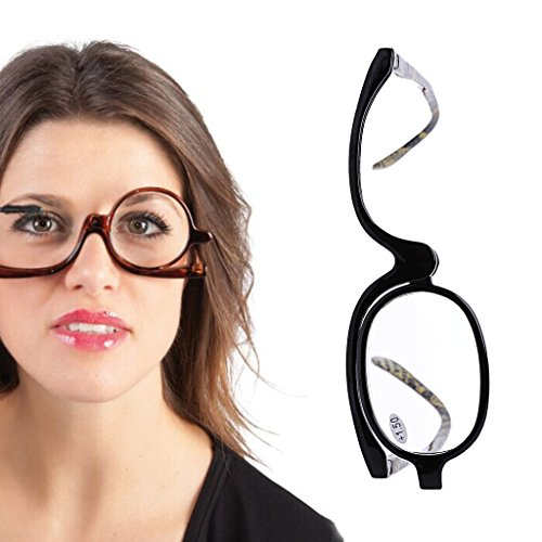 chuwa Reading Glasses Women Cosmetic Glasses Making Up Blue Light Blocking Eyeglasses Presbyopic Eyeglass +1.0~+4.0 (Lesebrille 0 25)