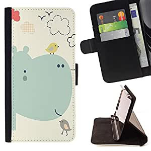 Dragon Case- Caja de la carpeta del caso en folio de cuero del tir¨®n de la cubierta protectora Shell FOR LG G3 LG-F400 D802 D855 D857 D858 - Bird Cartoon
