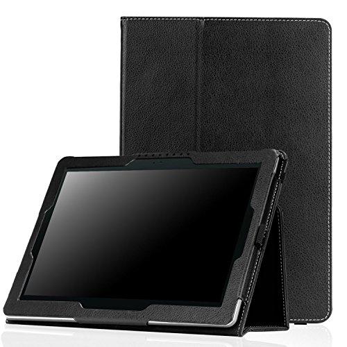 MoKo ASUS ZenPad 10 Case - Slim Folding Stand Cover with Auto Wake/Sleep Function for ASUS ZenPad 10 Z300C / Z300M / Z301M / Z301ML / Z301MFL 10.1-Inch Tablet, Black
