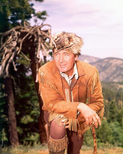 Fess Parker as Daniel Boone with Racoon Hat Durable Aluminum Wall Art