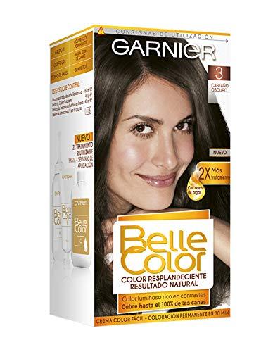 🥇 Garnier Belle Color Coloración de aspecto natural y cobertura completa de canas con aceite de germen de trigo – Castaño Oscuro 3