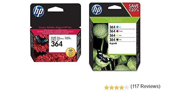 HP No.364 - Set de 5 cartuchos de tinta: Amazon.es: Oficina y papelería