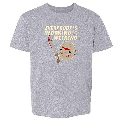 Everybody's Working for The Weekend Jason Sport Grey 5 Toddler Kids T-Shirt ()