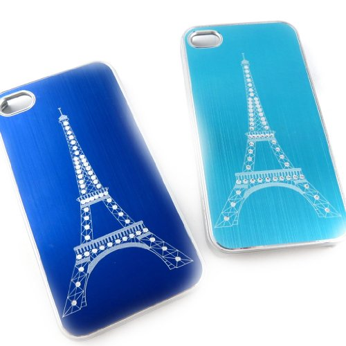 2 hulls 'french touch' 'Tour Eiffel' iphone 4 4s (turquoise blue). - Hull Lily