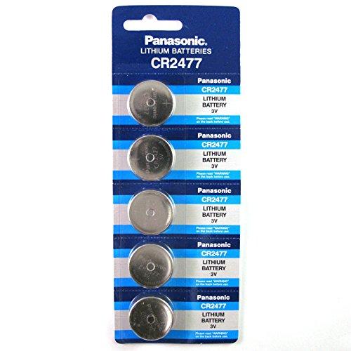 (Panasonic CR2477 3V Lithium Cell Battery (Pack of 5))