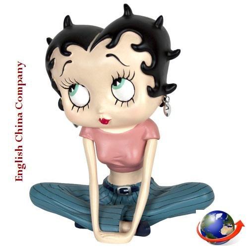 Licensed Betty Boop Leg (Betty Boop Genuine Licensed Collection CROSSED LEG Height 17.5 cm)