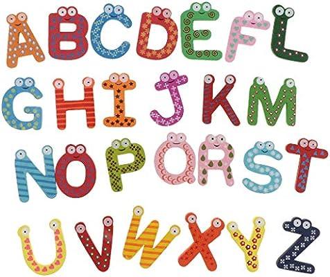 Injoyo Alfabeto Juguetes De Aprendizaje Letras Magnéticas De ...