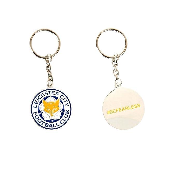 Amazon.com: Leicester City FC - Llavero de metal, diseño de ...