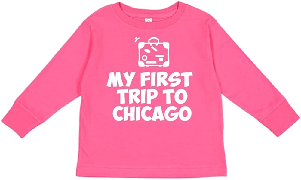 Mashed Clothing My First Trip to Chicago Toddler//Kids Long Sleeve T-Shirt