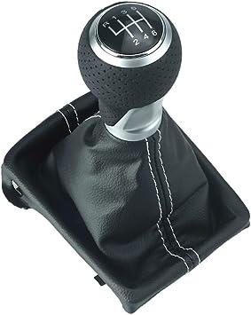 doled piel Pomo para palanca de cambios en negro con 5/velocidades piel
