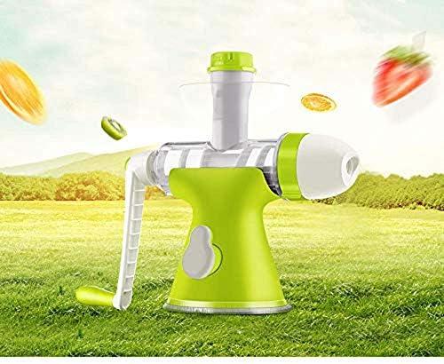 Exprimidor masticación Exprimidor, exprimidor Pequeño, Manual de fruta mini mano de arranque en jugo de la máquina jugo doméstica pequeña portátil multifunción Extractor