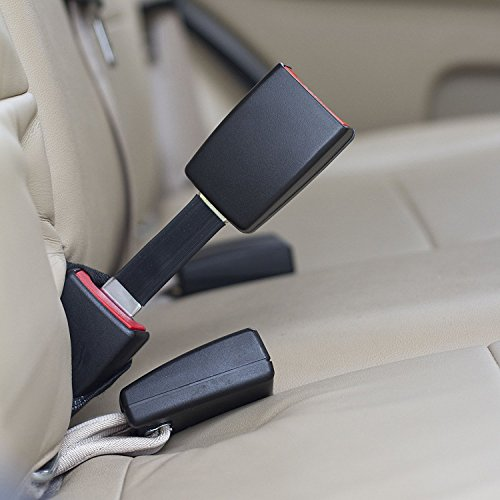 2-Pack Rigid 7 Seat Belt Extender Black, Type A, 7//8 Metal Tongue Width - Buckle Up /& Drive Safely E-Mark Safety Certified