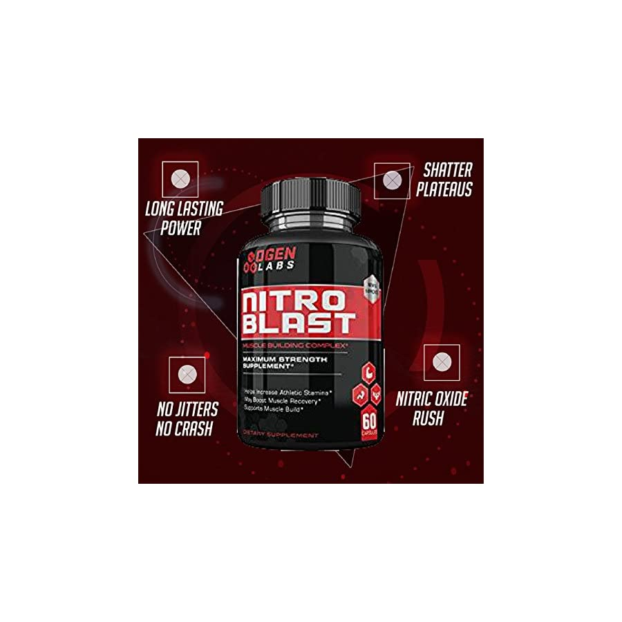 Ogen Labs Nitro Blast Maximum Strength Nitric Oxide Booster Increase Stamina, Recovery and Muscle Mass