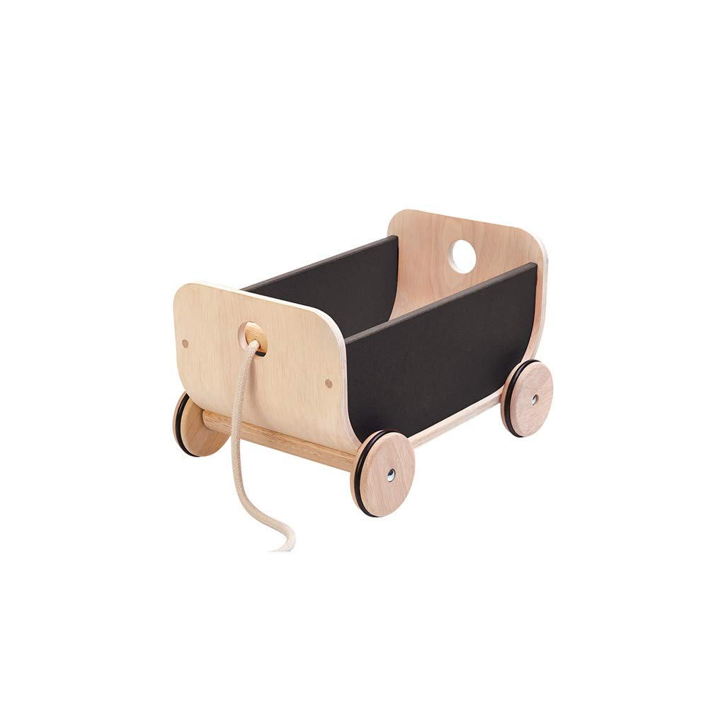 Lxrzls 2-in-1 Use As Push Along Toy/Wooden Walker Kid/Pull Along Wagon/Push Along Wagon/Push Toy