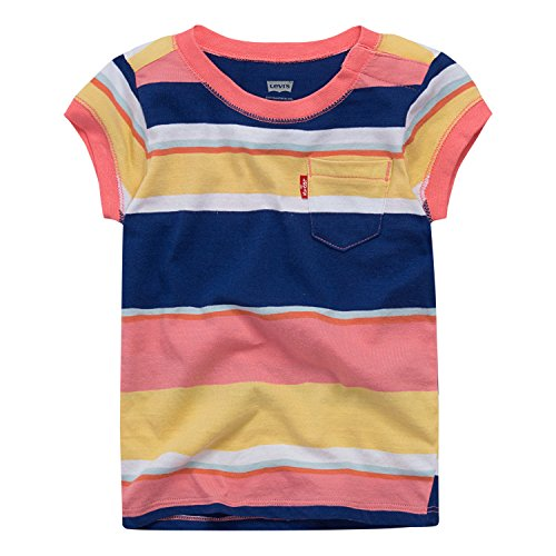 Levi's Baby Girls' Graphic T-Shirt, Multicolored Stripe, - Tees Girls Graphic Foil