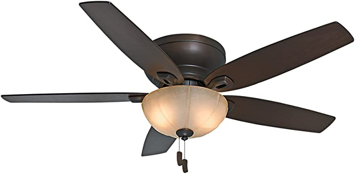 Casablanca Durant Indoor Low Profile Ceiling Fan With Light And Pull Chain Control Amazon Com